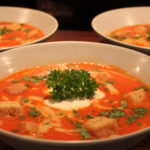 Tomatsuppe med Rørosrømme
