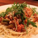 Spaghetti med hjemmelaget kjøttsaus