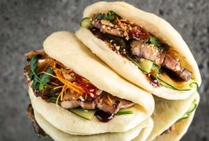 Steam buns med Asian glaze